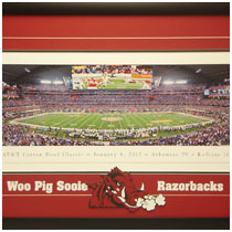 2012 AT&T Cotton Bowl Classic -  Commemorative Poster
