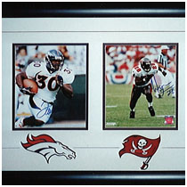 Terrell Davis - Warrick Dunn - Edgerrin James - Denver Broncos - Tampa Bay Bucaneers - Indianapolis Colts -  Autographed Photos