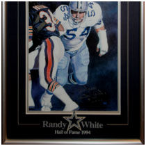 Randy White - Dallas Cowboys - NFL Hall of Fame Autographed Print