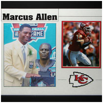 Marcus Allen - Kansas City Chiefs & Oakland Raiders - NFL Hall of Fame Autographed Photos