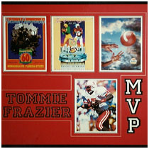 Tommie Frazier - Nebraska Cornhuskers - 1994, 1995 & 1996 Bowl Programs - Autographed Photo & Program Covers