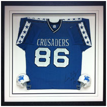 Sam Daly - Grand Island Central Catholic - Autographed Jersey & Mini Helmets