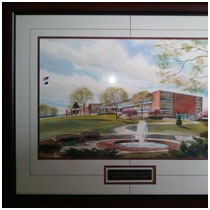 Shawnee Mission East - Amber Chappel memorial watercolor