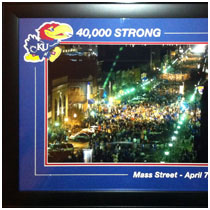 The University of Kansas - 40,000 Strong - Final Four 2008 - Crowd Photograph
