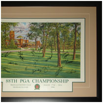 Family Signatures - Medinah Country Club - 88th PGA Championship - Commemorative Poster