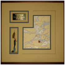 Muskellunge Trophy Fish Description - Lure, Plaque and Map