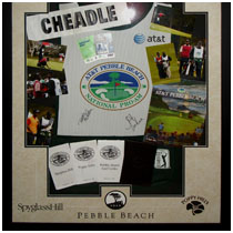 Pebble Beach - Pro Am Golf Tournament - Photos, Score Card, Yardage Books & Caddy Smock