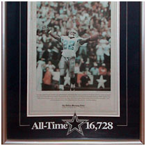 Emmitt Smith - Dallas Cowboys - NFL All-Time Leading Rusher - Dallas Morning News Front Page