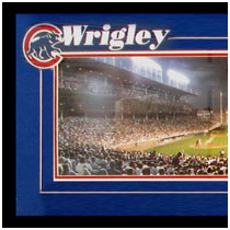 Chicago Cubs - Wrighley Field Commemorative Poster - Night