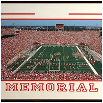 University of Nebraska - Memorial Stadium Print - Day