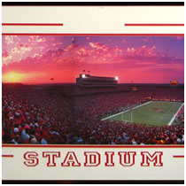 University of Nebraska - Memorial Stadium Print - Night