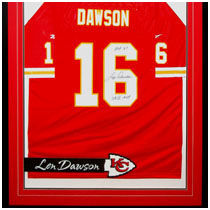 Len Dawson - NFL Hall of Famer - Kansas City Chiefs - Autographed Football Jersey