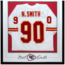 Neil Smith - Kansas City Chiefs - Autographed Football Jersey