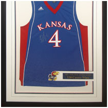 Sherron Collins - Kansas University All-Time Wins Record Holder - Autographed Jersey