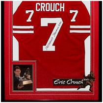 Eric Crouch - 2001 Heisman Trophy Winner - Nebraska Cornhuskers - Photo & Autographed Football Jersey