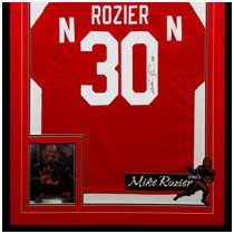 Mike Rozier - 1983 Heisman Trophy Winner - Nebraska Cornhuskers - Photo & Autographed Football Jersey