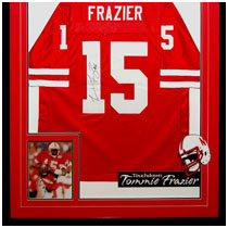 Tommie Frazier - 1995 Heisman Trophy Runner-Up - Nebraska Cornhuskers - Autographed Photo & Autographed Football Jersey
