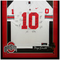 Troy Smith - 2006 Heisman Trophy Winner - Ohio State Buckeyes - Team Autographed Football Jersey
