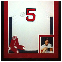 Nomar Garciaparra - Boston Red Sox - Autographed Jersey & Photo